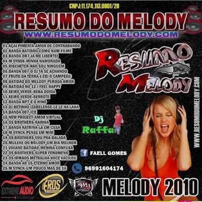 CD RESUMO DO MELODY EDIÇÃO MELODY 2010