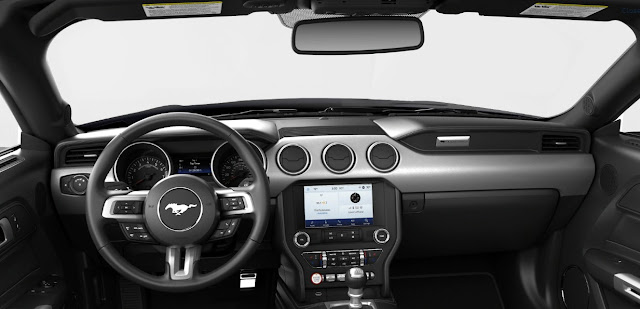 2019 Ford Mustang Ecoboost Convertible steering wheel and dashboard