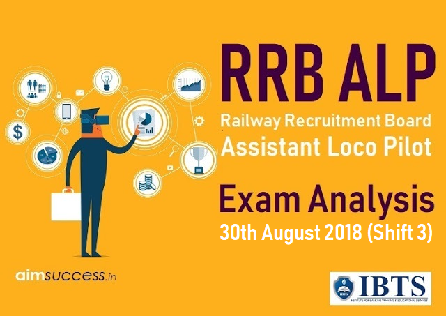 Railway RRB ALP Exam Analysis 30th August 2018 (Shift 3)