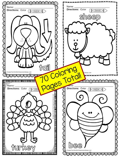 Fern Smith's Classroom Ideas - Color for Fun Long Vowels Preview Picture. Click for the FULL resource at TeacherspayTeachers.