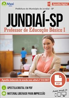 Apostila Concurso Prefeitura de Jundiaí-SP 2017 - Professor de Educação Básica I