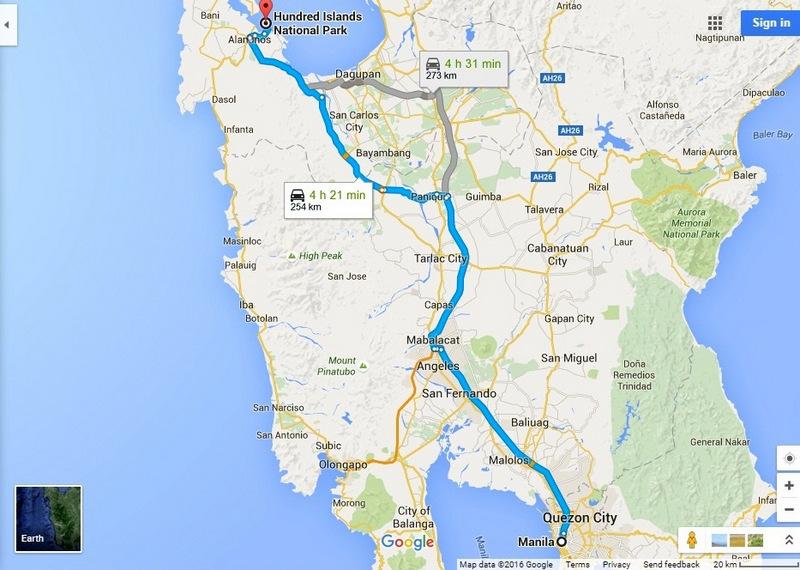 Hundred Islands Pangasinan Google Map