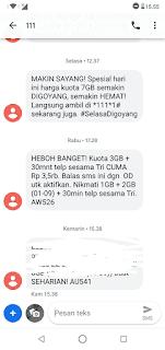 Baru! Paket Internet Tri 3GB Cuman Rp 3.500 April 2019