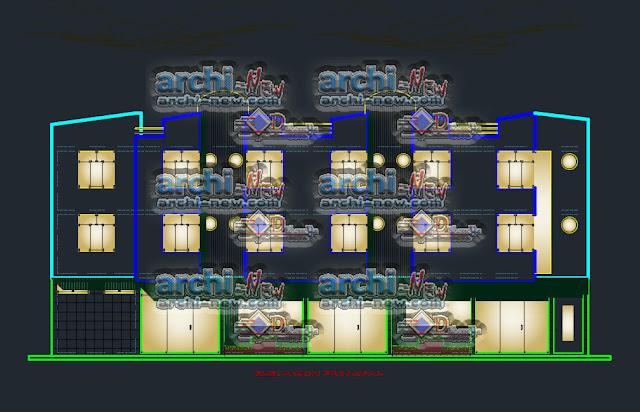 Residential Hostel 2 stars freecad Dwg