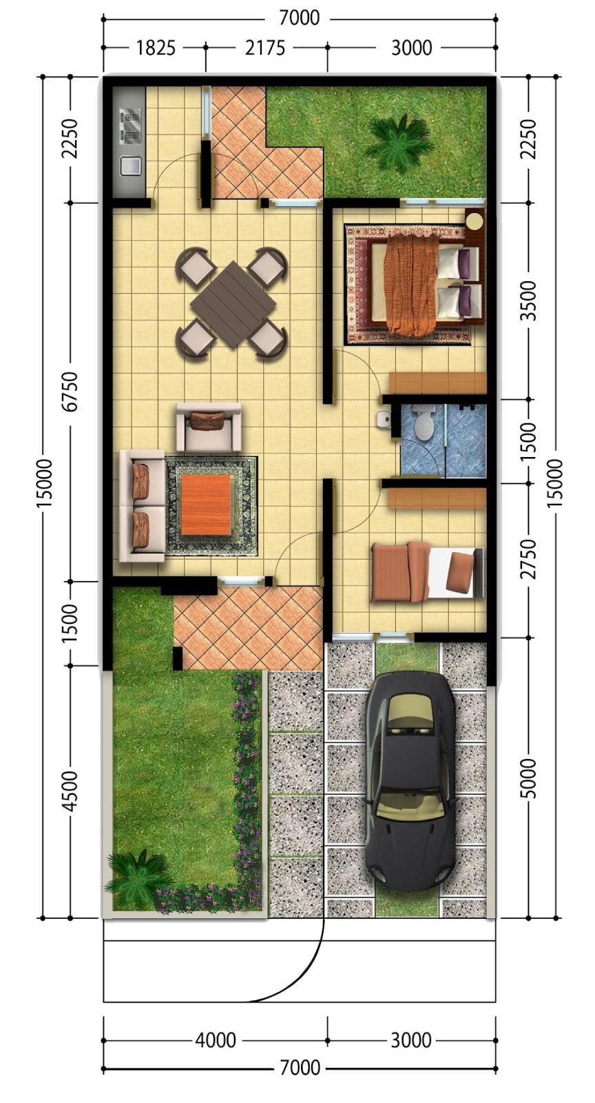 Gambar Desain Rumah Minimalis 7 X 15 Wallpaper Dinding