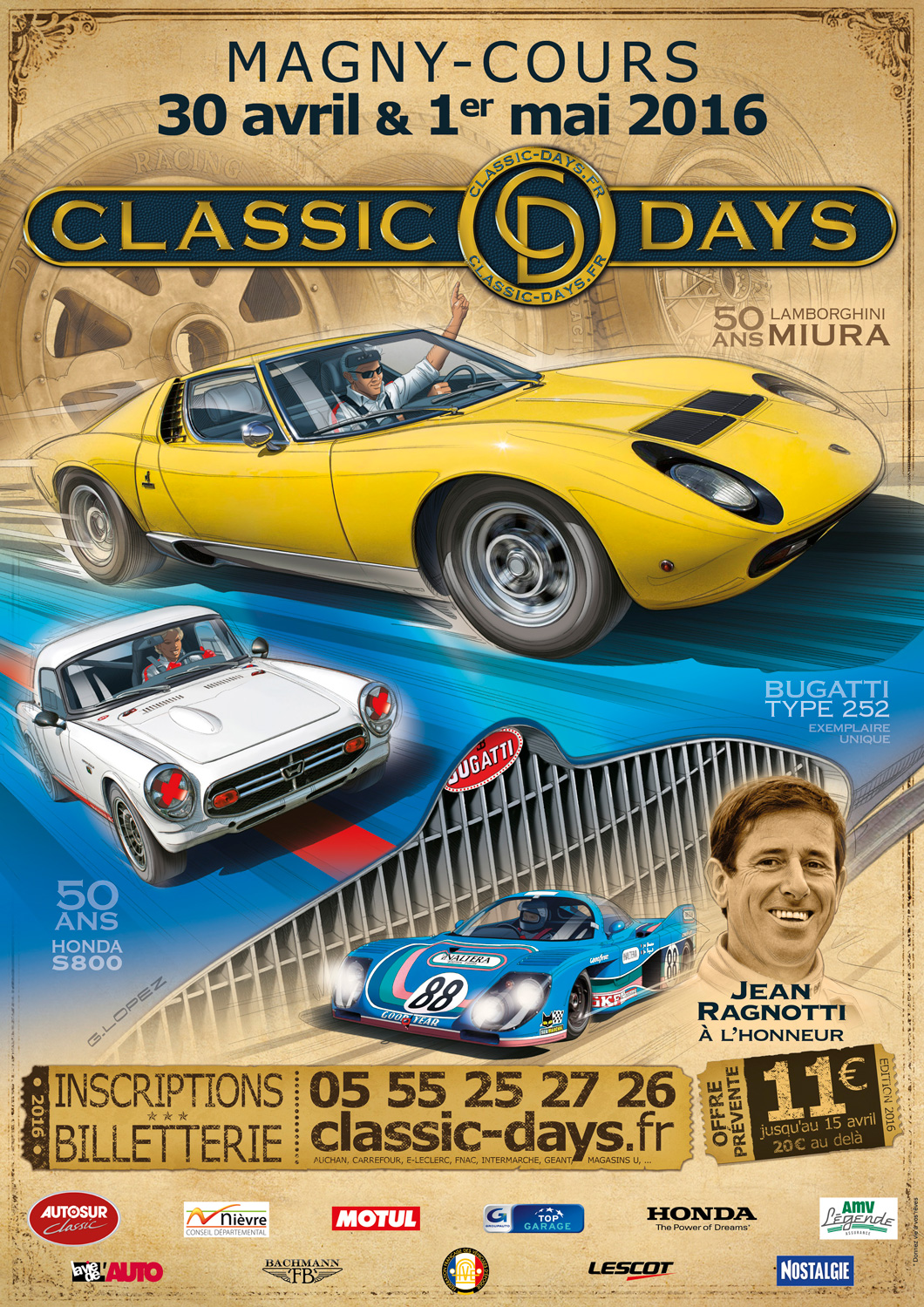 Classic days 2016 avec honda autoworks blog for Garage pf autos sa cergy