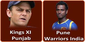 आइपीएल 6 का छठवांआइपीएल 6 का दूसरा मैच Subrata Roy Sahara Stadium, Pune में होने जा रहा है। मैच पुणे वरिवर्स इंडिया और किंग्स एलेवेन पंजाब के बीच होना है। यह मैंच 07 अप्रैल 2013 को Subrata Roy Sahara Stadium, Pune में होने जा रहा है। इस दिन किस टीम के के सितारे किस तरह से कितना फ़ेवर कर रहे हैं, आइए जानते हैं अंक ज्योतिष के माध्यम से:- मूलांक 7 और पुणे वरिवर्स इंडिया Vs किंग्स एलेवेन पंजाब:  पुणे वरिवर्स इंडिया और मूलांक 7:  अंक ज्योतिष के अनुसार Pune Warriors India का नामांक 6 है। क्योंकि यह मैंच 07 अप्रैल 2013 को है और इस तारीख का मूलांक 7 है। अंक 7 और 6 के मध्य मित्रवत सम्बंध हैं। जो कि एक अच्छा संकेत है। टीम के कप्तान Angelo Mathews हैं जिनका नामांक 7 है। अंक 7 और 7 के मध्य भी मित्रता का सम्बंध है। यह भी एक सकारात्मक संकेत है। पुणे वरिवर्स इंडिया का स्वामित्त्व Sahara India Pariwar नामक कम्पनी के पास है जिसका नामांक 1 है। अंक 7 और 1 के मध्य शत्रुवत सम्बंध हैं। अत: यहां से नकारात्मक संकेत मिल रहा है। इस कम्पनी के मालिक Subrata Roy हैं जिनका नामांक 2 है। अंक 7 और 2 के मध्य शत्रुवत सम्बंध है जो कि एक नकारात्क संकेत है।  किंग्स एलेवेन पंजाब और मूलांक 7:  यह मैंच 07 अप्रैल 2013 को है। इस तारीख का मूलांक 7 है। अंक ज्योतिष के अनुसार Kings XI Punjab का नामांक 3 है। अंक 7 और 3 के मध्य समता का सम्बंध है। यह सम्बंध न तो सकारात्मक संकेत कर रहा है और न ही नकारात्मक। टीम के कप्तान Adam Gilchrist हैं जिनका नामांक 8 है। अंक 7 और 8 के मध्य शत्रुवत सम्बंध हैं जो कि एक नकारात्मक सम्बंध हैं। किंग्स एलेवेन पंजाब का स्वामित्त्व KPH Dream Cricket Private Limited नामक कम्पनी के पास है जिसका नामांक 1 है। अंक 7 और 1 के मध्य भी शत्रुवत सम्बंध हैं। अत: यहां भी नकारात्मक संकेत मिल रहा है। इस कम्पनी के मालिक Ness Wadia हैं जिनका नामांक 2 है। अंक 7 और 2 के मध्य भी शत्रुवत सम्बंध हैं। अत: यहां भी नकारात्मक संकेत मिल रहा है।     इस प्रकार देखा जाय तो मूलांक के आधार पर पुणे वरिवर्स इंडिया का पलडा भारी नजर आ रहा है लेकिन इसे अंतिम परिणाम नहीं मानना चाहिए इसलिए जानते हैं कि इन टीमों के लिए उस तारीख का सम्पूर्णांक कैसा रहेगा।   सम्पूर्णांक 8 और पुणे वरिवर्स इंडिया Vs किंग्स एलेवेन पंजाब:  पुणे वरिव
