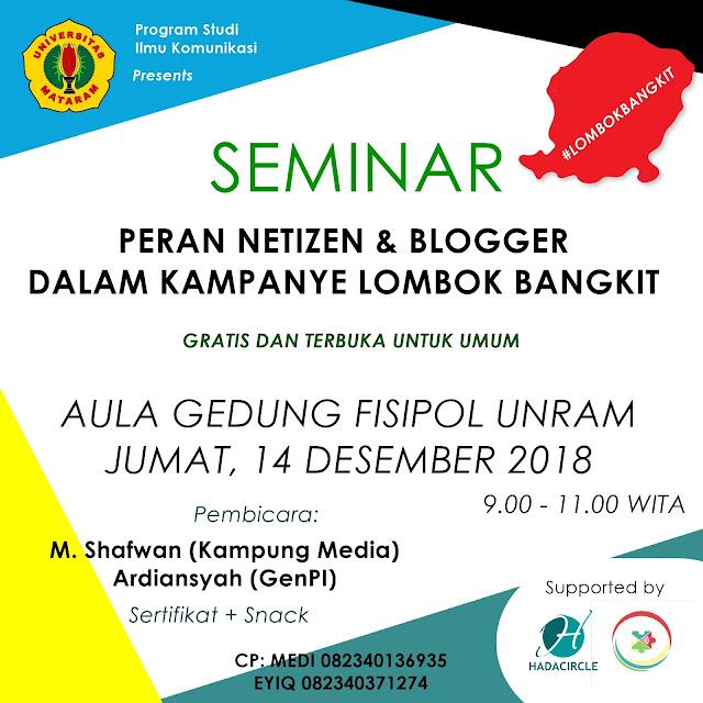 Seminar Lombok Bangkit Unram