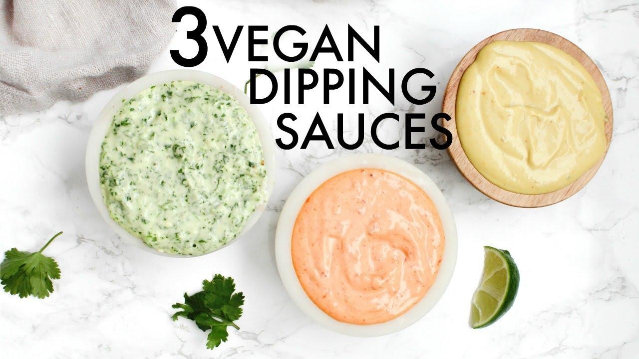 3 VEGAN DIPPING SAUCES #vegan #vegetarian