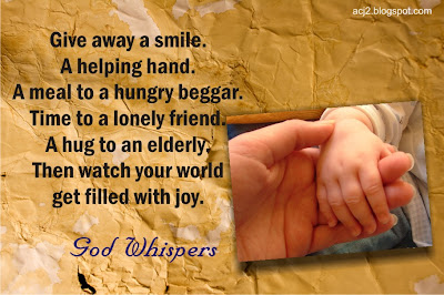 give away a smile