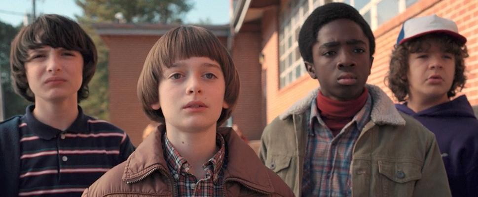 Mike, Will, Lucas et  Dustin (Stranger Things 2)