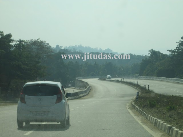 Road Distance from Guwahati to 77 important places of North East India