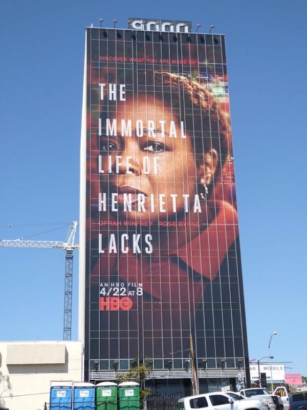 Immortal Life of Henrietta Lacks HBO billboard