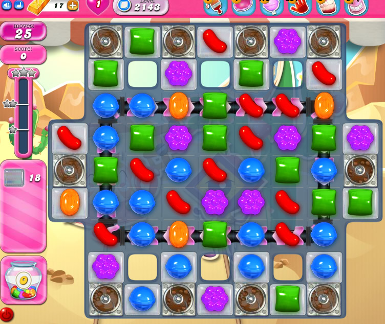 Candy Crush Saga level 2143