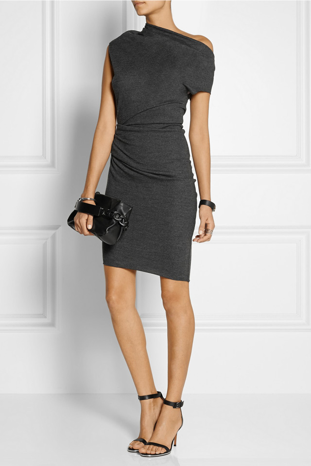 Asymmetric grey dress, Helmut Lang