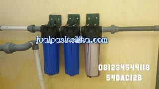 filter untuk menyaring sedimen dan endapan serta menghilangkan kandungan besi dalam air