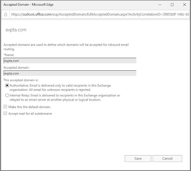 The EXPTA {blog}: Authoritative vs Internal Relay Domains in