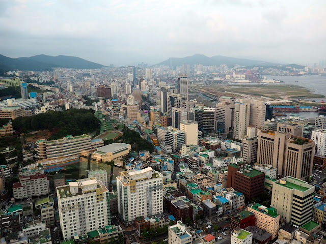 View over the south of Busan, taken from Busan Tower, South Korea
