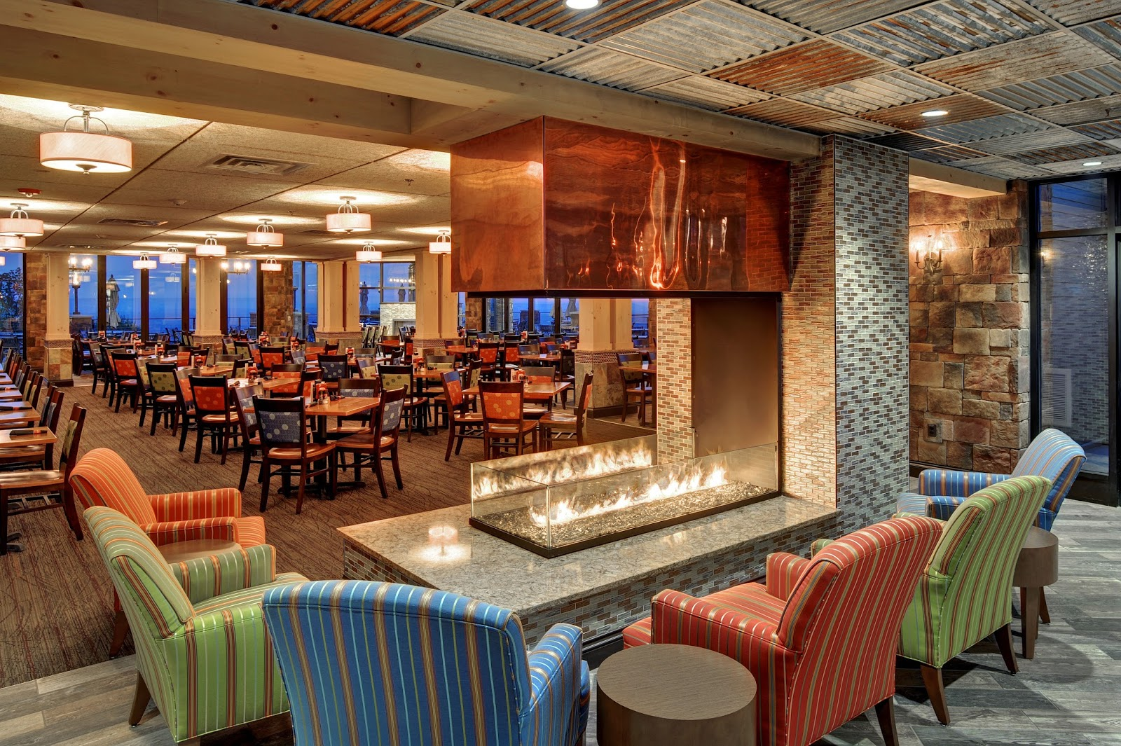 Fire place at Blue Mountain Resort