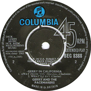 Gerry And The Pacemakers – Gerry In California (45 RPM,Live 1965)
