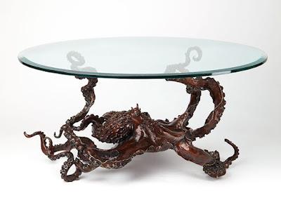 Mesa cristal de pulpo