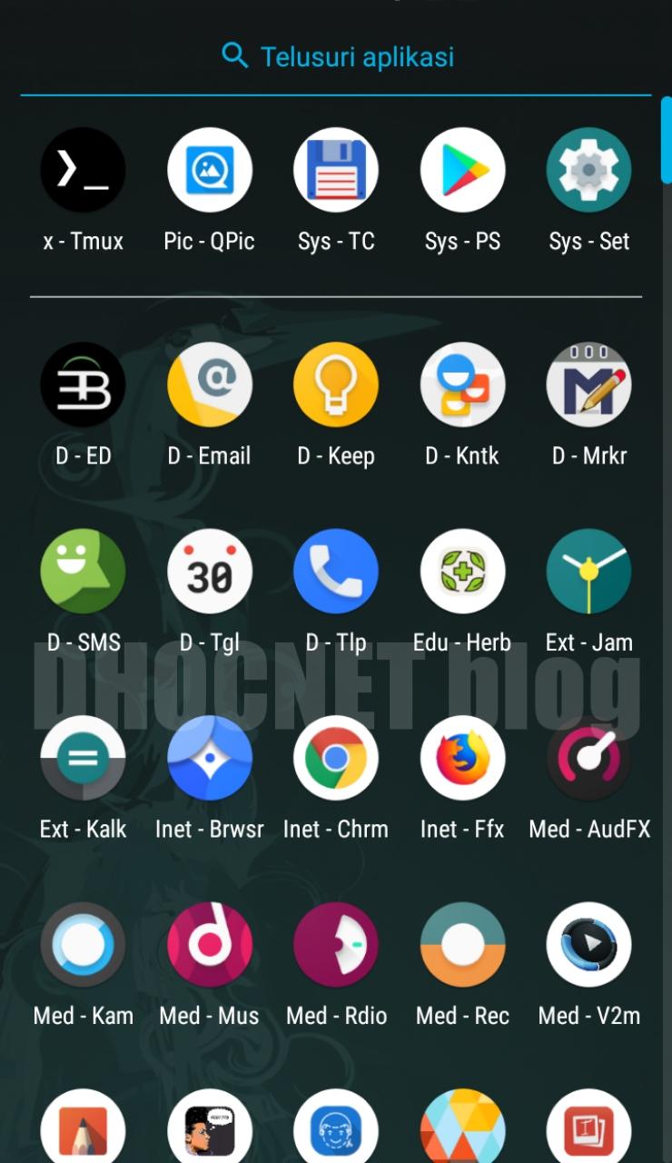 mengelompokan icon aplikasi di android 8.1 oreo aosp - lineageos - blog.dhocnet.work