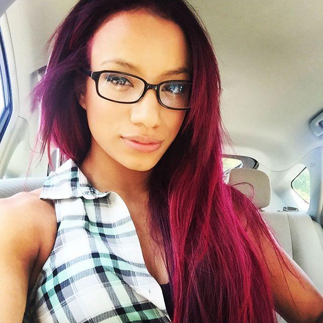 Sasha Banks Natural Hair Color