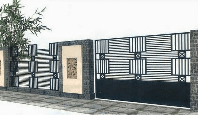 69 Gambar Model Pagar Rumah Tembok Terbaru 2018 Godean Web Id
