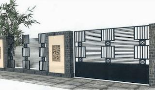 warna pagar tembok rumah, warna cat pagar tembok rumah minimalis,