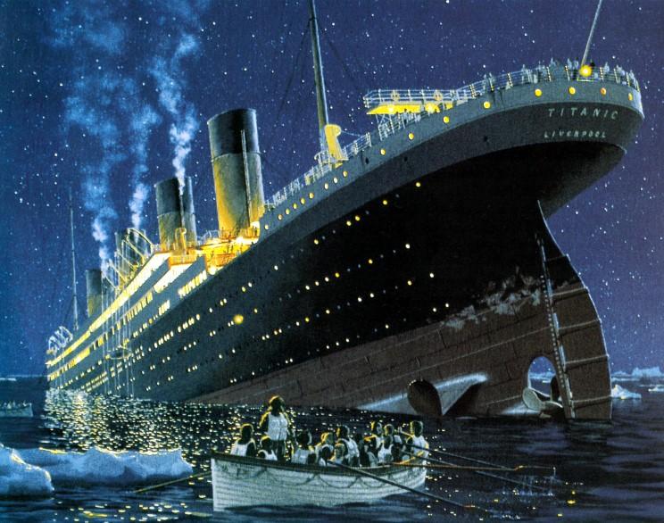 Detik-detik Tenggelamnya Kapal Titanic di Lautan Atlantik