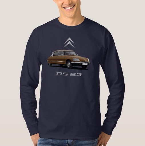 CItroën DS t-shirt brown with white top