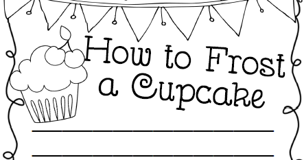 Classroom Freebies: How To Frost a Cupcake Writing