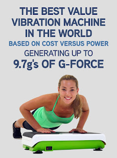 Hypervibe G-10 Mini Whole Body Vibration Machine Platform Plate with Bluetooth Connectivity,  generates up to 9.7g's of G-Force, picture, image, review features and specifications