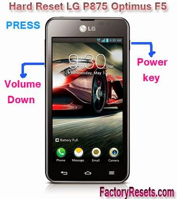Hard Reset LG P875 Optimus F5