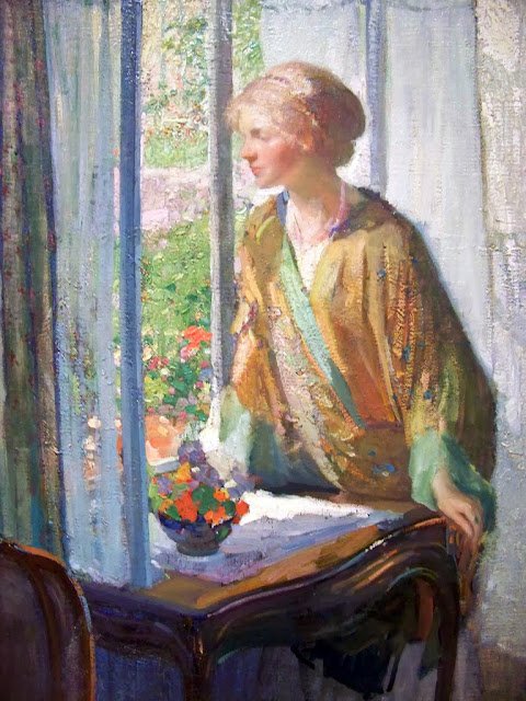Richard Edward Miller,  International Art Gallery, At The Window, Portraits Of Painters, Fine arts, Self-Portraits