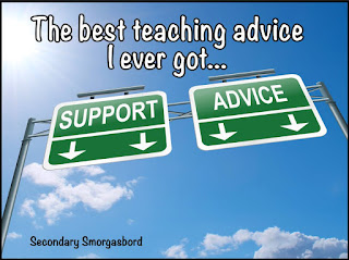 The best teaching advice ever, including tips shared in a link up of veteran teachers.