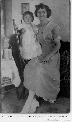 Image of Mildreth Margarite Ladner (1912-2008) & Gertrude Hardesty (1896-1916).