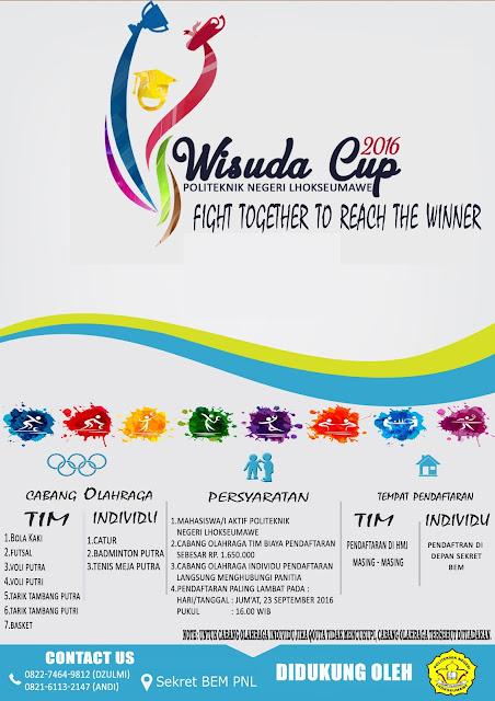 INFORMASI WISUDA CUP PNL 2016