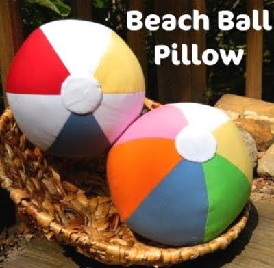 make beach ball pillows