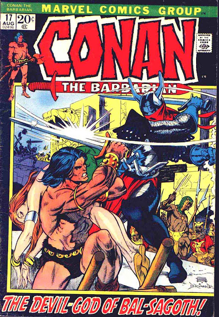Conan the Barbarian v1 #17 marvel comic book cover art by Frank Brunner