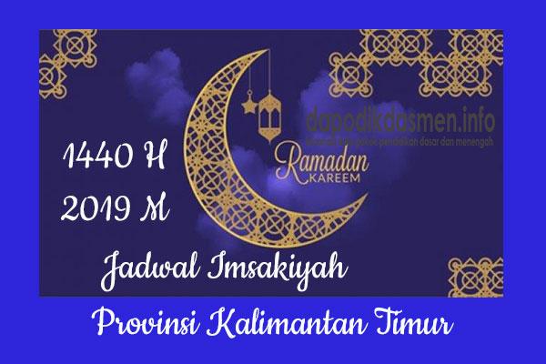 Jadwal Imsakiyah Ramadhan Provinsi Kalimantan Timur