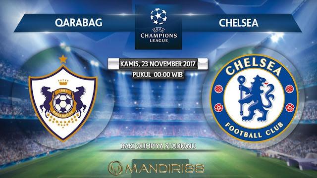 Prediksi Bola : Qarabag Vs Chelsea , Kamis 23 November 2017 Pukul 00.00 WIB