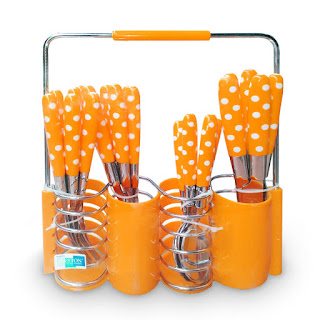 Sendok Set Polkadot Orange