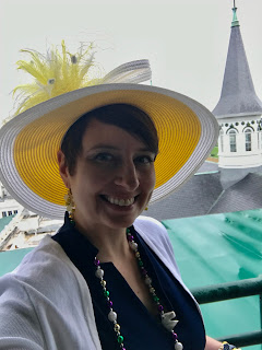 Photo of me at Churchill Downs