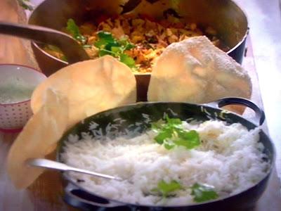 Curry vegetariano riso aromatico e poppadom la cucina for Cucinare vegetariano
