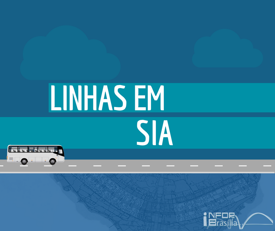 Horário de ônibus das linhas do Sia