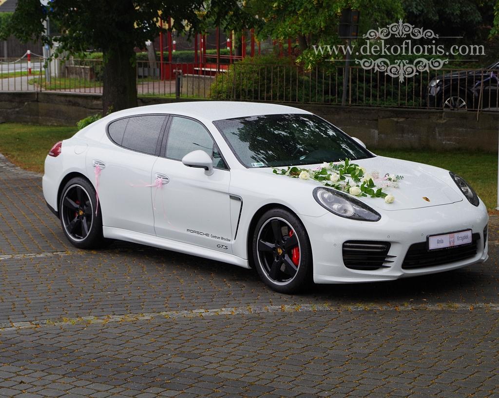 Ślubna dekoracja samochodu Młodej Pary opolskie