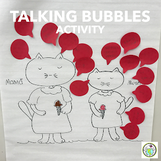 Talking Bubbles Activity for Foreign Language Class