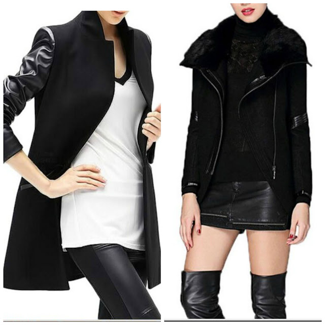spring jackets black white leather rocker