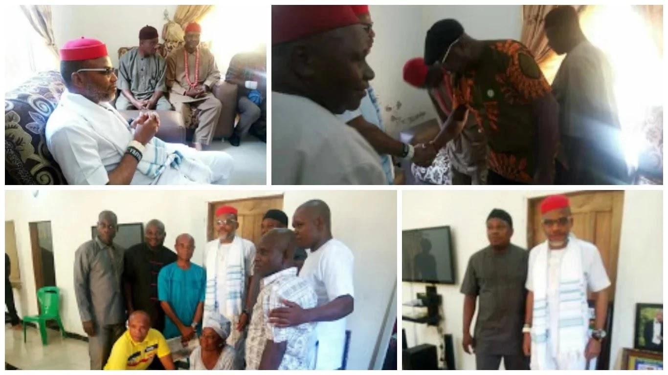 Biafra Agitation- MASSOB leader meets Nnamdi Kanu